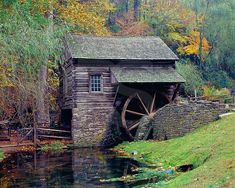 Bromley Mill In Autumn, Cuttalossa Farm Beautiful Buildings, Beautiful Places, Beautiful Pictures, Old Grist Mill, Water Mill, Water Tower, Stone Houses, Old Barns, Le Moulin