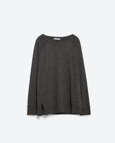 TOP WITH SIDE SLITS-Long Sleeve-T-SHIRTS-Woman-COLLECTION SS16 | ZARA United Kingdom