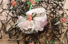 AMU-001 – Mărturie borcan cu șerbet #marturii #nunta #botez #serbet #borcanel Hanukkah, Wreaths, Floral, Flowers, Decor, Decoration, Door Wreaths, Deco Mesh Wreaths, Decorating