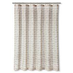 Shower Curtain Tan Black Stripe - Threshold™ : Target