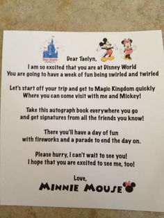 Poems for each day of your Disney vacation**