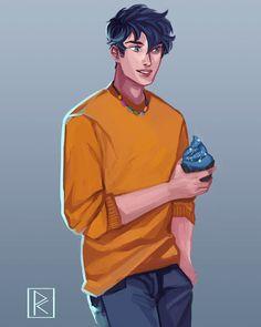 Percy Jackson Fandom, Percy Jackson Annabeth Chase, Percy Jackson Fan Art, Magnus Chase, Rick Riordan Series, Rick Riordan Books, Percy Jackson Drawings, Dibujos Percy Jackson, Teddy Lupin
