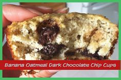 2 cups almond meal/flour 1 cup oats 3 ripe bananas, mashed 1 cup light vanilla soy milk (or any milk) 2 eggs 1 TBSP. baking powder 1 tsp. pure vanilla 1 TBSP ground flax seed 2 TBSP honey 1/2 cup dark chocolate chips (you could leave these out entirely (or use walnuts?)  Directions: 375 F oven. Use muffin cups or cooking spray. Mix ingredients together. Pour into 15 muffin cups. Bake 20-25 minutes.  They will start to get brown around the edges. .