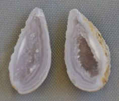 Tabasco Geode 1 Pair Cut and Polished Great for Jewelry 6384