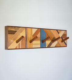 Reclaimed Wood Mosaic Coat Rack