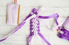 front of the double braided lei