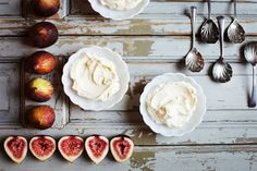 Figs & Goat Cheese #ingredients #overhead #light