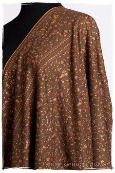 The Night at the Opera - Grand Pashmina Shawl Kashmiri Shawls, Indian Bridal Fashion, Cashmere Shawl, Indian Textiles, Pashmina Shawl, Bridal Style, Embroidery Patterns, Hand Embroidery, Closet Mirror