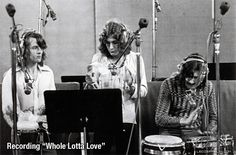 Whole Lotta Love session 1969!! Music history is being made on that day!!!! ❤❤❤❤