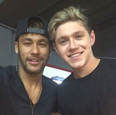 """Neymar jr and Niall Horan @Taylor Cooper """"its both of our husbands!"""" lol"""