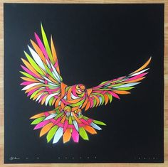 Otto Schade - DOVE Black 4WGOP- 2016 - 60cm x 60cm stencil-spray-handfinished 300g-card_ed1-1 Ministry of Walls Street Art Shop Gallery