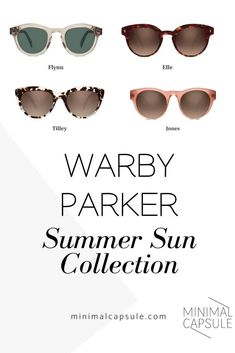 11c1feb5d45 Stylish Eyewear Brand Warby Parker Launches Summer Sun Collection