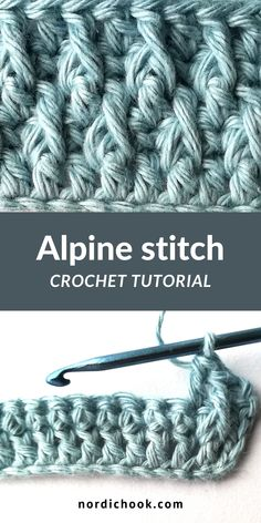 This free crochet tutorial shows how to make an alpine stitch step by step (in English or Spanish, US terms). It includes clear photo instructions and suits for beginners. Triple Crochet Stitch, Stitch Crochet, Crochet Stitches Free, Crochet Stitches For Beginners, Afghan Crochet Patterns, Crochet Basics, Stitch Patterns, Different Crochet Stitches, Knitting For Beginners