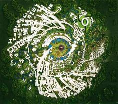 The layout of Auroville