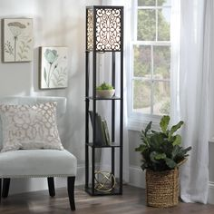 The Wallace Shelf Floor Lamp is one of Kirkland's most unique lamps! It provides both lighting and shelf space.