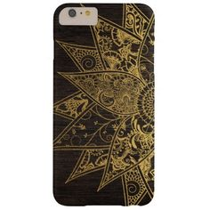 Cute trendy flower henna hand drawn design barely there iPhone 6 plus case