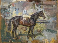 Peter Biegel, Study of a Racehorse with Jockey Up, Things of beauty I like to see: Photo