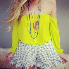 Spring Lime Top. Shopellableu.com