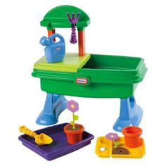 """<p>Little Tikes Role Play products inspire kids to connect with their world through dramatic, creative, and imaginary play, while promoting social interaction for everyday fun</p><p>Product Features:<br />""""Plant"""" and """"water"""" flowers!<br />Basin can hold water; drain plug included<br />Plenty of storage space<br &#4..."""