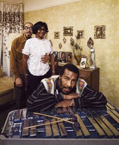 Richie Havens With His Parents, 1970 | LIFE With Rock Stars … and Their Parents | LIFE.com