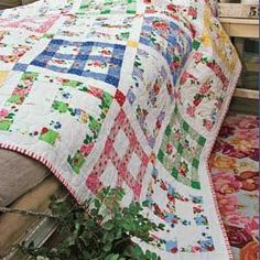 ~ Good Morning Quilt ~ Love the Window Pane Look.....