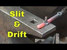 Slitting and drifting holes - ornamental blacksmithing - YouTube