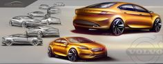 Volvo sedan proposal - sketch Marco Gianotti