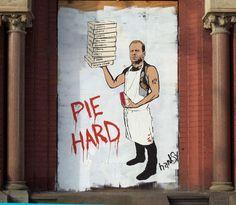 Pie Hard by Hanksy