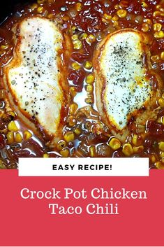 Stewing pot Chicken Taco Chili is a simple moderate cooker dump formula utilizing cooler and wash room staples! #CrockPot #Chicken #Taco #Chili Chili Recipes, Easy Recipes, Easy Meals, Healthy Recipes, Chicken Taco Chili, Chicken Tacos, Wash Room, Chicken Breast Recipes Healthy, Canned Tomato Sauce