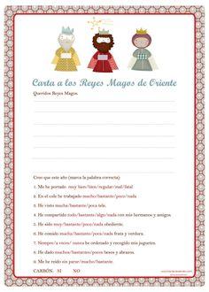 Image of Carta a los Reyes Magos con Cuestionario y Cartas de los Reyes a los Niños