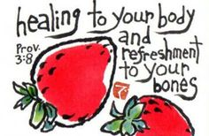 Refreshment to Your Bones (Original Etegami Painting, Strawberries) by dosankodebbie for $19.99 #zibbet