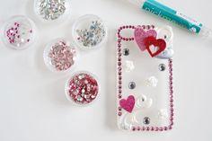 Diy rhinestone cellphone case for girls
