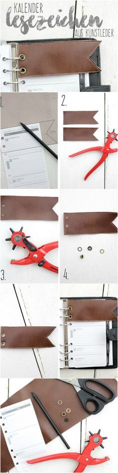 DIY Kalender Lesezeichen Kunstleder Leder Nähen Basteln Anleitung Tutorial Minuten Braun Sewing Craft Bookmark Fakeleather Leather Quick Project Projekt Schnell Tutorial