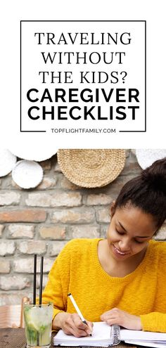 Use This Caregiver Checklist If You're Traveling and Leaving Kids At Home Do you need to travel outside of the country with your spouse and leave the kids at home? Here's how to leave a detailed checklist for their caregiver. Vacation Checklist, Kids Checklist, Travel Itinerary Template, Barcelona Travel, Costa Rica Travel, Travel Gadgets, Beach Trip, Beach Travel, Nightlife Travel