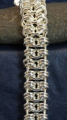 Chainmail Jewelry, Handmade Sterling Silver Chainmaille Bracelet