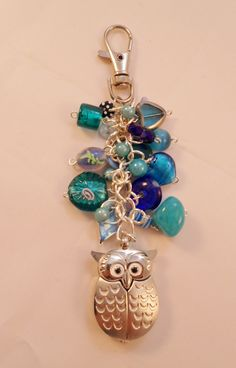 Blue Bag Charm with Owl Watch Fob @Leslie Lippi Lippi Riemen Ball
