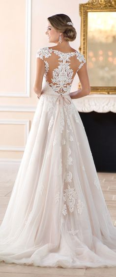 White wedding dress. Brides think of finding the perfect wedding, however for this they require the perfect bridal gown, with the bridesmaid's dresses enhancing the brides-to-be dress. Here are a number of ideas on wedding dresses.