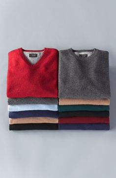 A cashmere sweater is a winter basic.