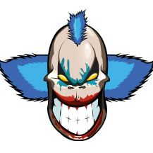 Evil Clown. Commissioned work. Client: Psycho Tuning.