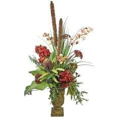 Hydra and Orchid Faux Floral Arrangement