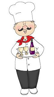 Free Dearie Dolls Digi Stamps: Chef with Wine and Glasses Embroidery Patterns, Cute Embroidery, Fat Chef Kitchen Decor, Painting People, Le Chef, Country Art, Digi Stamps, Colouring Pages, Cute Illustration