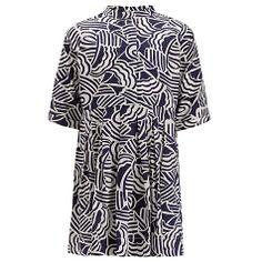 Buy Kin by John Lewis Girls' Wave Print Dress, Navy/White Online at johnlewis.com