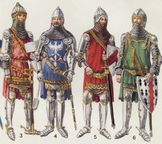 14th Century Knights Armor | and 4 - Warriors of 1325. #5 Warrior of 1327.