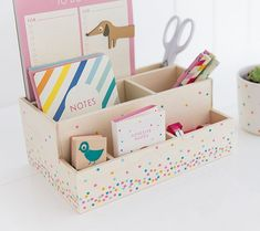 K Adhesive Notes In-Store or Online. Browse the Complete kikki.K Stationery Range & More Today! Stationary Storage, Cute Stationary, Cute Desk Organization, Wooden Desk Organizer, Idee Diy, Cardboard Crafts, Desk Accessories, Stationery, Organisers