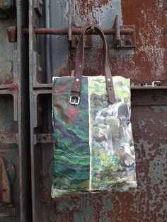 Image of ONE OF A KIND PAINTING BAG - WATERFALL (free shipping)
