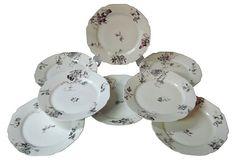 Haviland Floral Dessert Plates, S/8 on OneKingsLane.com