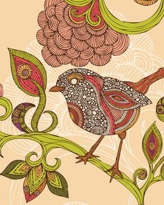 Valentina Ramos print - love the patterned bird