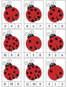 ladybug counting activity More on math and learning in general zentral-lernen.de Source by tinkerbel Counting Activities, Preschool Learning Activities, Preschool Activities, Space Activities, Math Games, Activity Games, Numbers Preschool, Kindergarten Math Worksheets, Math For Kids