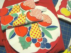UPCYCLING of Vintage table cloth
