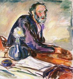 Man with Bronchitis Edvard Munch - 1920 Munch-museet  (Norway - Oslo)